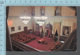 CPM - Canada New Brunswick - Inside Fredericton Legislative Building  , Used In 1978, + Stamp , Flame: Sail Boat - Ontario