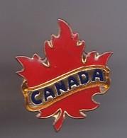 Pin's Canada La Feuille D érable Rouge Réf 1663 - Cities
