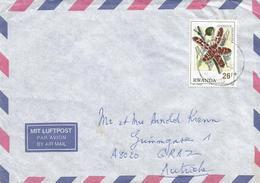 Rwanda 1995 Gisenyi Orchid Ansellia Gigantea Cover - 1990-99: Afgestempeld