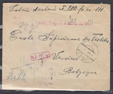 Brief Van Lodz 1 Naar Via Poznan Naar Verviers (90) - Lettres & Documents