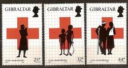 Gibraltar 1989 Yvertn° 578-580 *** MNH Cote 5 Euro Croix Rouge Rode Kruis - Gibraltar