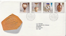 Great Britain Set On Used FDC - Porcelain