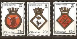 Gibraltar 1989 Yvertn° 581-583 *** MNH Cote 8,75 Euro Pas Complète - Gibraltar