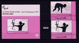 ONU Ginevra 2012: Lotto Di 2 Valori Più BF43 MNH/**. - Ginevra - Ufficio Delle Nazioni Unite