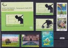 ONU Vienna 2012: Lotto Di 7 Valori Più BF49 MNH/**. - Vienna - Ufficio Delle Nazioni Unite