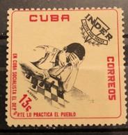 Cuba, 1962,  The National Sports Institute (I.N.D.E.R.) Commemoration (MNH) - Echecs