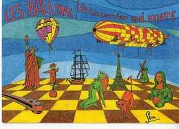 G ROBIN Les Ballons La Collection Qui Monte,montgolfiere,dirigeable,tour Eiffel,statue Liberte,tgv,joconde,femme Nue,dam - Illustrateurs & Photographes