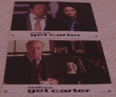 LOT 6 PHOTOS EXPLOITATION ORIGINALES FILM GET CARTER Sylvester STALLONE CAINE ROURKE 2001 TBE - Photos