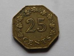 Malte  25 Cents 1975 Commemorative   Km# 29   Laiton TTB - Malte