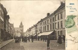 Belgique - Menin Menen - La Rue De Lille En 1905 Avec Double Timbre Taxe De France 10 Cts - Menen