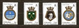 Gibraltar 1991 Yvertn° 624-27 *** MNH Cote 9 Euro  Armoiries De Bâtiments Royal Navy - Gibraltar