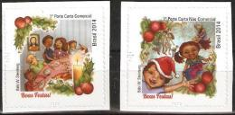 BRAZIL 2014  -   CHRISTMAS -  CHRISTMAS DINNER And EXCHANGE OF GIFTS  -  2v  S/A  MINT - Unused Stamps
