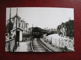 PHOTO TRAIN 95 TRAIN ENTRE ENGHIEN ET LA POINTE RAQUET  06/54 CLICHE J.BAZIN - Trains