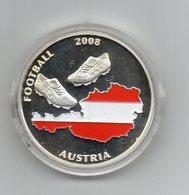 Austria - 2008 - Medaglia Campionati Europei Di Calcio - Austria - Svizzera - Colorata - Proof - In Capsula - (MW1881) - Gettoni E Medaglie