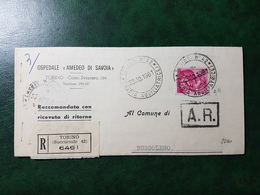 (5089) ITALIA STORIA POSTALE 1961 - 1946-.. République