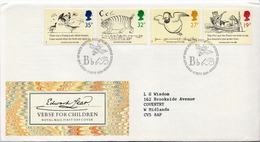 Great Britain Set On Used FDC - Childhood & Youth