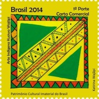 BRAZIL 2014  -  INDIGENOUS ART  KUSIWA WAJÃPI - 1v - Unused Stamps