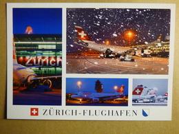 AIRPORT / FLUGHAFEN / AEROPORT     ZURICH KLOTEN  A 340 / A 320   SWISS - Aerodromes