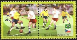 BRAZIL 2013  -  Brazil And The Czech Republic / Countries Of  Football  - Se Tenant 2v   Mint - Soccer