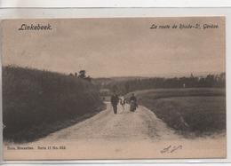 Cpa.Belgique.Linkebeek.La Route De Rhide-St Génèse.animé Personnages.1905 - Linkebeek