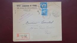 Lettre Credit Commercial Agence Poissoniere Perforé CCF 64 (catalogue Ancoper ) Paris 1927 - France