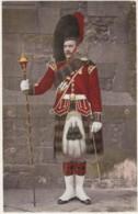 Black Watch Drum Major, A. & G. Taylor's Series C1900s Vintage Postcard - Uniforms