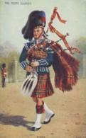 Scots Guards Piper, Bagpipes, Valentine's C1920s/30s Vintage Postcard - Uniforms