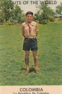 Boy Scouts Around The World, Scout Colombia Uniform, C1960s Vintage Postcard - Scouting