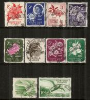 Faune/flore , 10 Timbres Oblitérés,bonne Qualité,  Emission Années 1960's. Forte Côte 62,00 Euro - Ile Norfolk