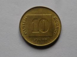 Israel  10 Agorot  1991  Aluminium Bronze     Km#173   TTB - Israel