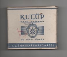 TURQUIE - ETUI VIDE DE 20 CIGARETTES - KULÜP - SERT HARMAN - Empty Cigarettes Boxes