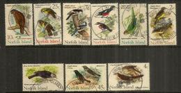 Oiseaux De L'île Norfolk,  9 Timbres Oblitérés, Bonne Qualité.   Côte 15,00 Euro - Ile Norfolk