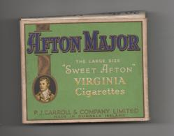 IRELAND - ETUI VIDE DE 20 CIGARETTES - AFTON MAJOR - SWEET AFTON - VIRGINIA CIGARETTES - Empty Cigarettes Boxes