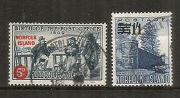 émission 1959/1960,  Surchargés, Oblitérés Bonne Qualité - Ile Norfolk