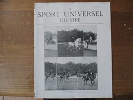 LE SPORT UNIVERSEL ILLUSTRE N°312 13 JUILLET 1902 FÊTE MILITAIRE AU 14e HUSSARDS,CONCOURS HIPPIQUE DE BARCELONE,ESCRIME - 1900 - 1949