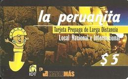 Argentina: Prepaid IDT La Peruanita 08.10, Producer Color-Graf - Argentinien