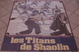 AFFICHE CINEMA ORIGINALE FILM LES TITANS DE SHAOLIN HONG KONG KARATE ARTS MARTIAUX Kwan CHING LIANG - Affiches & Posters