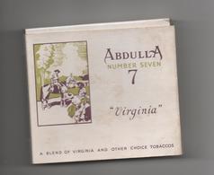 ENGLAND - ETUI VIDE DE 20 CIGARETTES - ABDULLA 7 - VIRGINIA - LONDON - Empty Cigarettes Boxes
