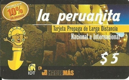 Argentina: Prepaid IDT La Peruanita 10%  90 Days, Producer Color-Graf - Argentinien