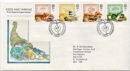 Great Britain Set On Used FDC - Vegetables