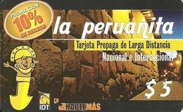 Argentina: Prepaid IDT La Peruanita 10%  3 Month, Producer Color-Graf - Argentinien