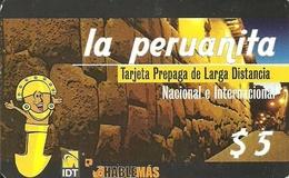 Argentina: Prepaid IDT La Peruanita 3 Month RS White, Producer Color-Graf - Argentinien
