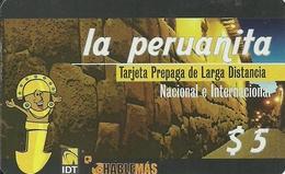 Argentina: Prepaid IDT La Peruanita 3 Month RS Grey, Producer Color-Graf - Argentina