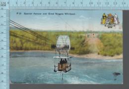 CPSM - Canada Ontario - Spanish Aerocar Over Niagara Whirlpool, Plus Beaver Canada Crest, Used In 1940 + Stamp - Niagara Falls