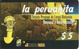 Argentina: Prepaid IDT La Peruanita 90 Days , Producer Color-Graf - Argentina