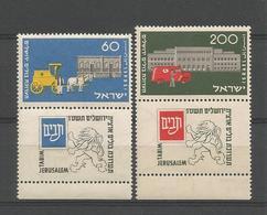 Israel 1954 Centenary Of Postal Services Y.T. 80/81 ** - Israel