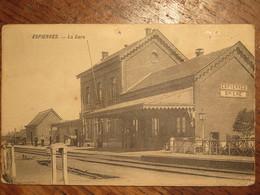 Espierres(Spiere) La Gare (station)1913 - Espierres-Helchin - Spiere-Helkijn
