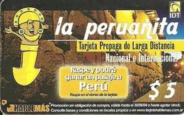 Argentina: Prepaid IDT La Peruanita Promotion , Producer Color-Graf - Argentinien