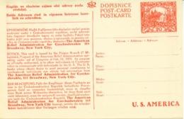 Tschechoslowakei  P 22  ** -  20 H Hradschin US-Karte - Entiers Postaux