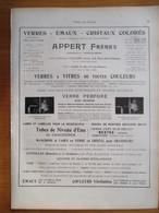 1926 - Verres Et Emaux APPERT Frères Clichy (Seine)    - Page Originale ARCHITECTURE INDUSTRIELLE - Architecture